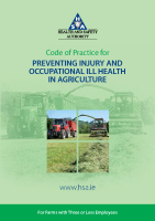 Code of Practice for preventing injury and occupational ill health in agriculture front page preview