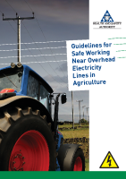 Guidelines for safe working near overhead electricity lines in Agriculture front page preview