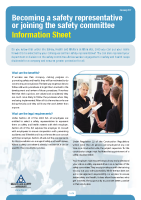 Safety Representative Info Sheet front page preview