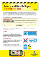 Signs Information Sheet front page preview