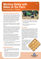 Working with Bales Info Sheet front page preview
