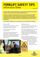 forklift safety tips front page preview