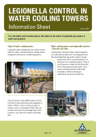 Legionella Control in Water Cooling Towers front page preview