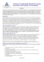 COVID-19 Legionella Information Note front page preview