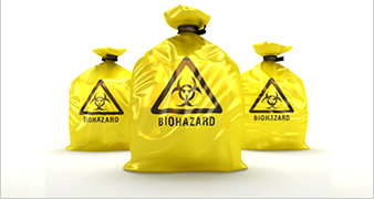bags of biological waste